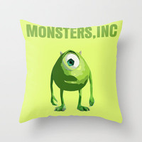 Monsters, Inc Throw Pillow by FunnyFaceArt | Society6