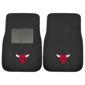 Chicago Bulls NBA 2-pc Embroidered Car Mat Set