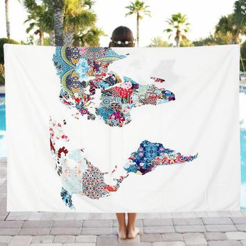 New Beach Pool Home Shower Towel Blanket Table Cloth Yoga Mat couch cover or window curtain other