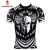 Men Skull Masks Cycling Jersey Bike Sport Bicycle Road Cycling Clothing Short Sleeve Wear Breathable Quick Dry Sportwear