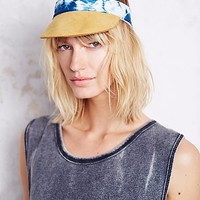 Right Tribe for Free People Womens Shibori Dyed Leather Visor