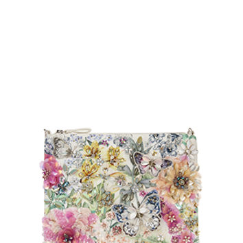 Accessorize | Fleur Garden Ziptop Clutch Bag | Multi | One Size