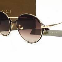 Gucci Classic Vintage Round Mirror Brand Designer Sunglasses Metal Lady Circle Retro UV400 Women Or Men  Sun Glasses Rays Victory [2974244571]