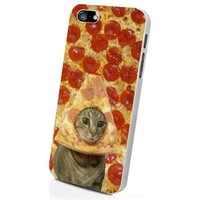 Cat Pizza Funny Iphone 5 White