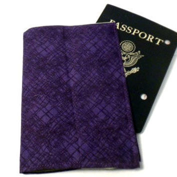 Purple Passport Cover Green and purple by redmorningstudios