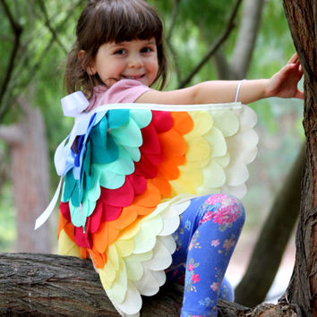 Rainbow Bird Wings Costume Halloween Childrens Dressup kids