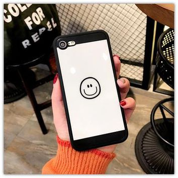 Fashion smile face mobile phone case for iPhone X 7 7plus 8 8plus iPhone6 6s plus -171209