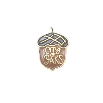 City of Oaks Enamel Pin