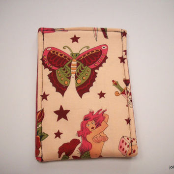 For the Love of Tatoo Art  Pink Smart Phone Cozy Sleeve Case for Ipod or Iphone
