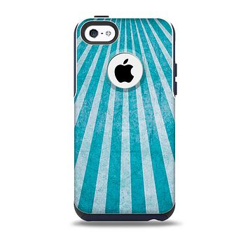 The Scratched Striped Blue Rays Skin for the iPhone 5c OtterBox Commuter Case
