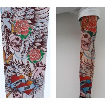 Hot Sale Style Unisex Women Men Temporary Fake Slip On Tattoo Arm Sleeves Kit Colletion Halloween