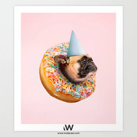Dog Party Donut by L  O  S  T  A  N  A  W