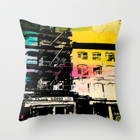 Think Soho Throw Pillow by Natalie Baca
