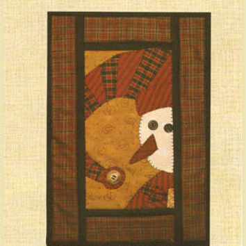 Hooper Creek  Quilt Pattern Bert Snowman Wall Hanging