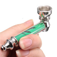 Metal Smoking Pipe Weed Cannabis Print High Quality Tobacco Herb