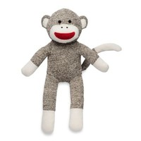 Baby Starters® Sock Monkey Plush Toy in Tan Sweater Knit Fabric