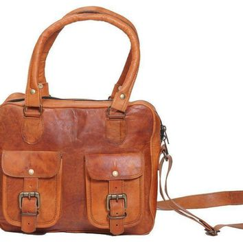 IN-INDIA Women Special Pure Leather Bag For Modern and Regular Use - Handy Light Weight