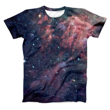 The Colorful Deep Space Nebula ink-Fuzed Unisex All Over Full-Printed Fitted Tee Shirt