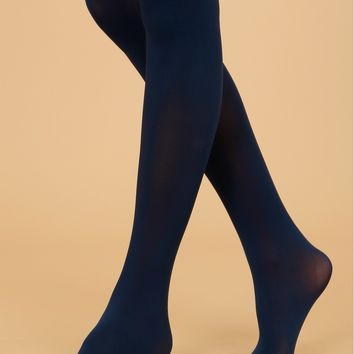 Women's Opaque Tights Navy