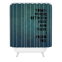 Leah Flores Here And There Two Shower Curtain