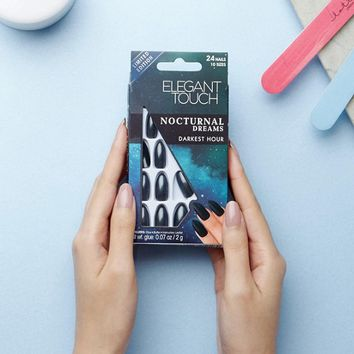 Elegant Touch Nocturnal Dreams Stiletto False Nails - Darkest Hour at asos.com