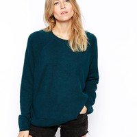 er In Cashmere Mix With Raglan Sleeve