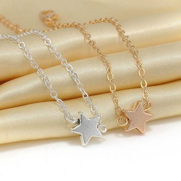 2 pcs Europe Style Star Pendant Charm Chain Bracelet Couple Bracelets Jewelry Friendship Gifts to Friends Lover