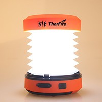 ThorFire Camping LED Lantern USB Rechargeable Mini Flashlight Torch Light Lamp Collapsible Hand Crank Hiking Jogging Charge Your Cellphone for Emergency