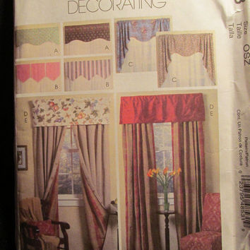 Uncut McCall's Sewing Pattern, 4853! Home Decor Window Treatment Patterns/Home Designs Curtains/Reversible Valances & Panels/Front Room