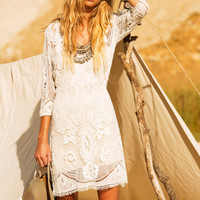 Woodstock Mini Dress - Off White