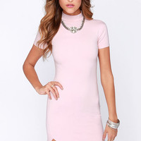 LULUS Exclusive In the Neck of Time Light Pink Bodycon Dress