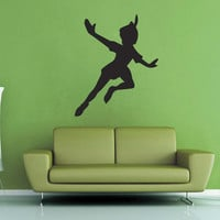 Peter Pan Silhouette Wall Decal - No 1
