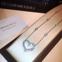 HCXX Tiffany Co Love - shaped diamond necklaces