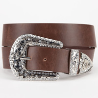 Western Buckle Belt Brown  In Sizes
