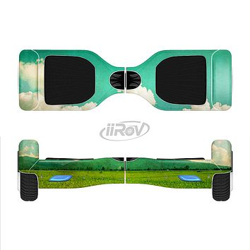 The Green Vintage Field Scene Full-Body Skin Set for the Smart Drifting SuperCharged iiRov HoverBoard