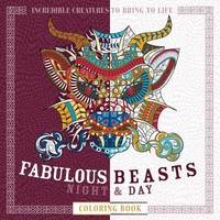 Fabulous Beasts Night & Day Adult Coloring Book Night & Day Coloring Books CLR CSM