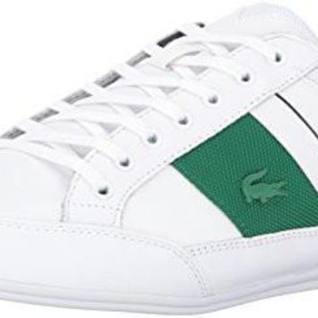 Lacoste Men's Chaymon G416 1 Casual Shoe Fashion Sneaker, White/Green, 12 M US