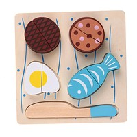 Wooden Toys For Children Boys Fake Fish Cut Kids Cooking Kitchen Toy Food Pretend Play Toy Early Educational Puzzle Toys