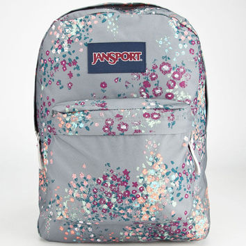 Jansport Superbreak Backpack Shady Grey Sprinkled Floral One Size For Men 23724611501