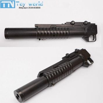 DCCKL3Z M203 Grenade Launcher double barrel crystal bullet launcher adjustable rail ABS currency accessories for water bullet toy gun