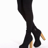 Faux Wooden Heel Boot, NLY Shoes