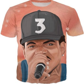 Chance The Acid Rapper Casual Hip Hop Tees
