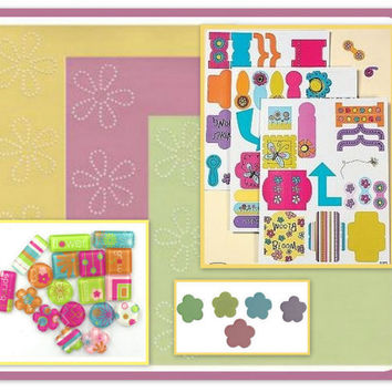 Spring Baby Easter Scrapbook Inspiration Kit STICKERS BRADS PAPER