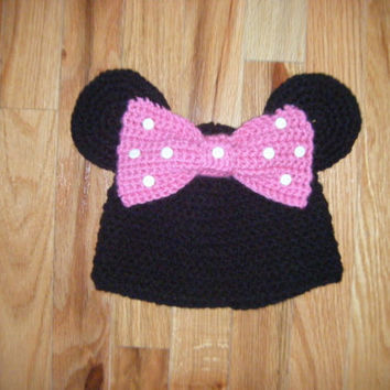 Minnie Mouse Inspired Hat by littlebugaboos on Etsy