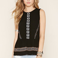 Embroidered Gauze Top | Forever 21 - 2000152038