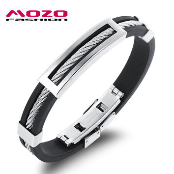Mozo Fashion Trendy Stainless Steel Bracelets For Men Mph946