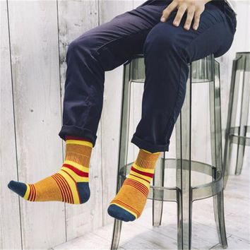 Men socks thin stripes fashion men's socks Autumn and winter Men's cotton socks