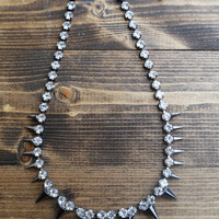 Spike It Out Necklace {Silver}
