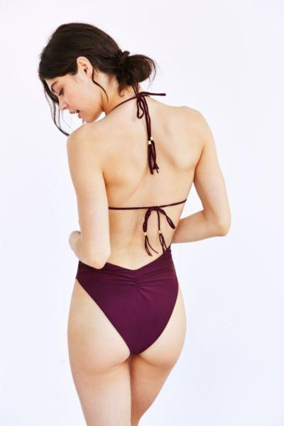 714a462b9a9 Blue Life Mirage Halter One-Piece from Urban Outfitters