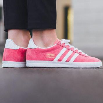 Best Online Adidas Originals Wmns Gazelle OG  Luspnk/Footwear White/Gold Metallic Sneakers Classic Casual Shoes -  S78876